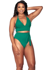Paris Bikini Bottom- Medium Coverage - Emerald