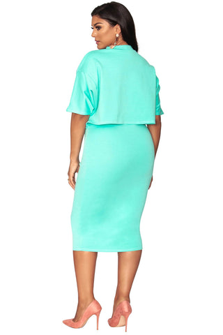 Raven Oversize Top - Fresh Mint
