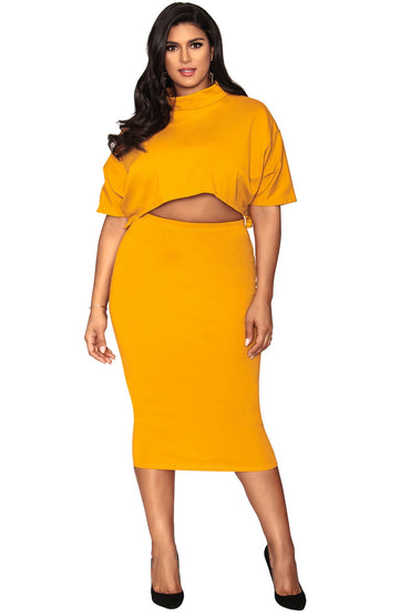Raven Skirt - Goldmine Yellow