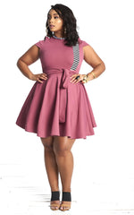 Roshana Skater Dress - Blush