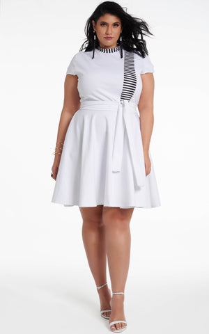 Roshana Dress - White