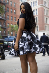 Sai Skirt - Black Floral