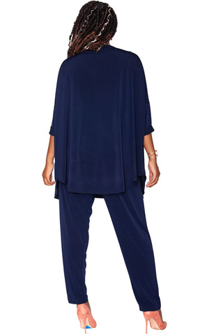Sylvie Relaxed Cardigan - Midnight Indigo