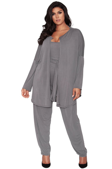 Sylvie Relaxed Cardigan - Smoke Gray