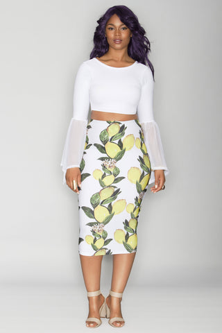 Tanisha Skirt - White Lemonade