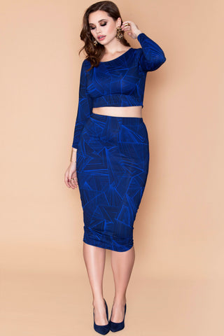 Tessa Skirt - Blue Web