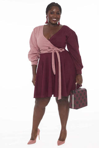 Valerie Dress - Burgundy Blush