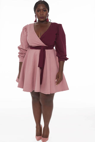 Valerie Dress - Pink Maroon