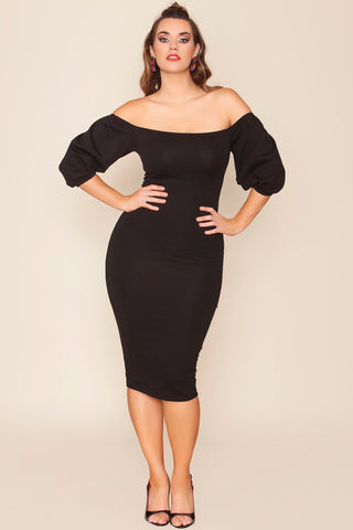 Zeinab Dress - Black Ink