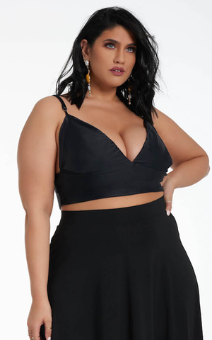 Cheri Triangle Top - Black