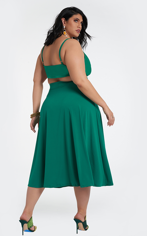 Ortiz Circle Skirt - Emerald