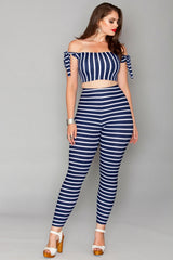 Turner Leggings - Navy stripes