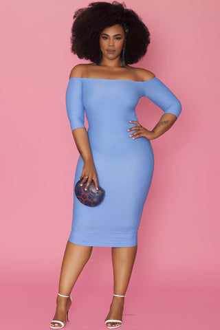 Pierre Dress- Powder Blue