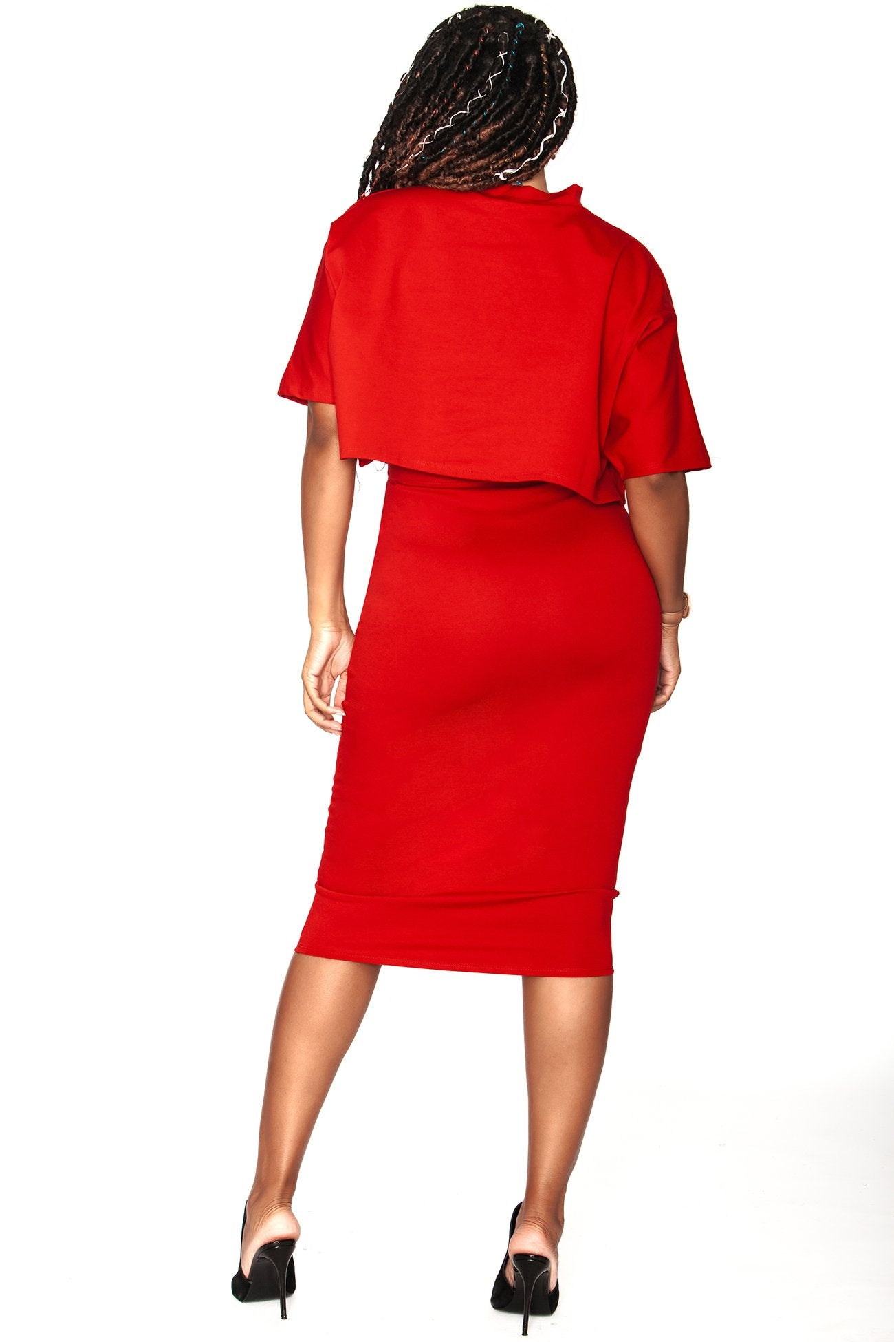 Raven Skirt - Passion Red