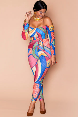Sierra Bodysuit- Abstract Art