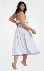 Ortiz Circle Skirt - White