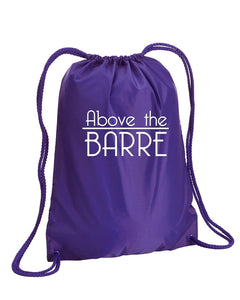 Above The Barre Drawstring Bag