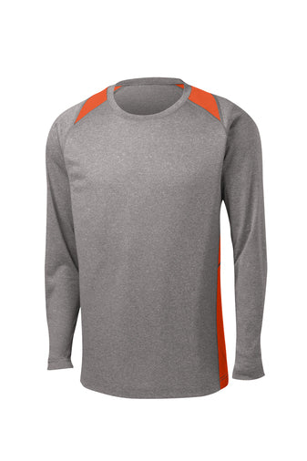 Long-Sleeve Colorblock Performance Tee (McHenry Fire)
