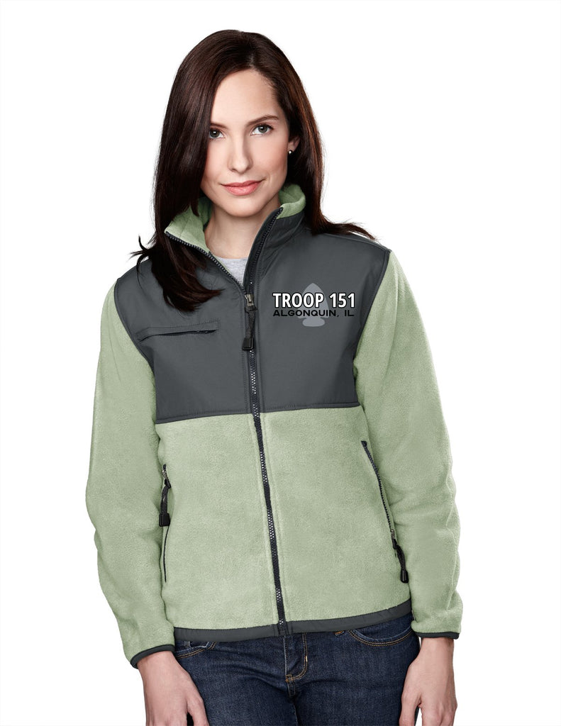 T151 Fleece/Nylon Jacket (Womens)