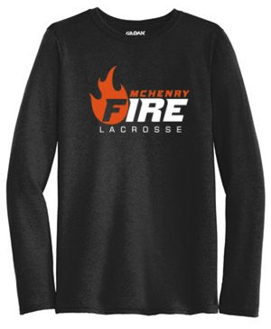 Long-Sleeve Solid Color Performance Tee (McHenry Fire)