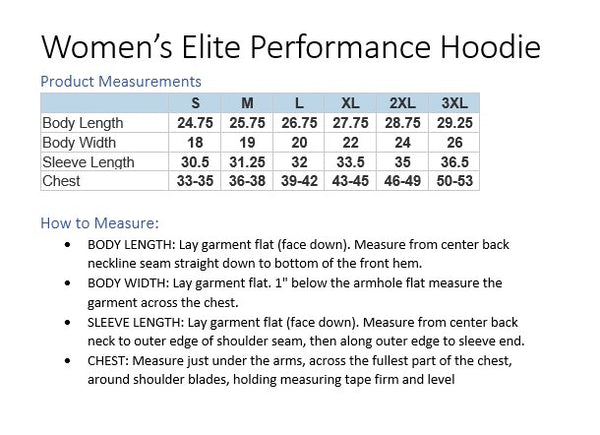 Women's Elite Performance Hoodie (MJW Lacrosse)