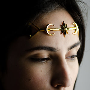 TWIN MOON CROWN - GOLD