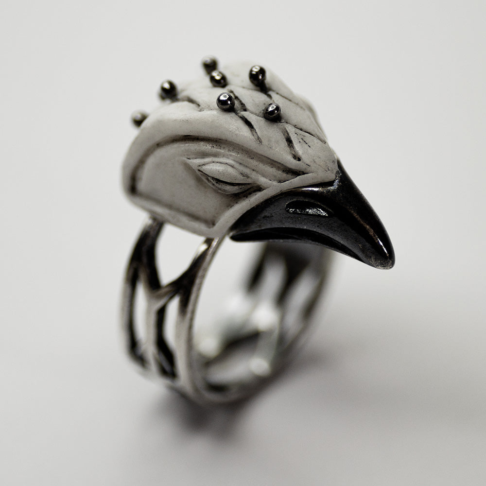 SLEEPING BIRD RING