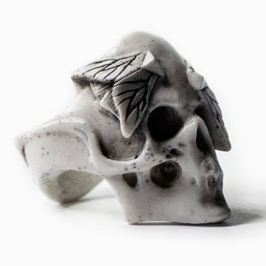 MOTHS SKULL RING