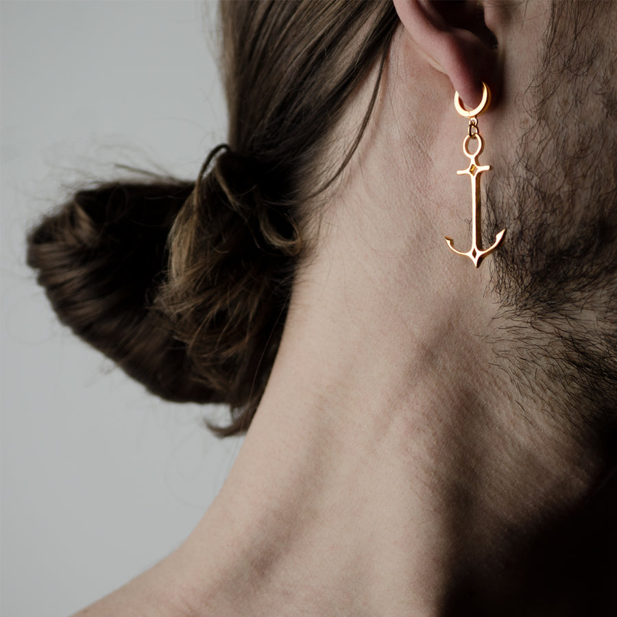 ANCHOR EARRING - GOLD