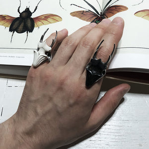 STAG BEETLE RING - BLACK