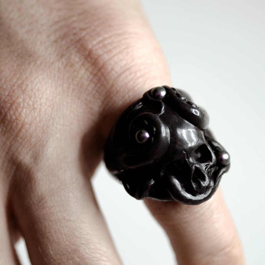OCTOPUS RING - BLACK