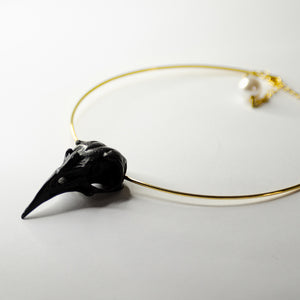 CROW NECKLACE - BLACK