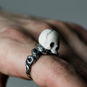SKULL & SERPENT RING