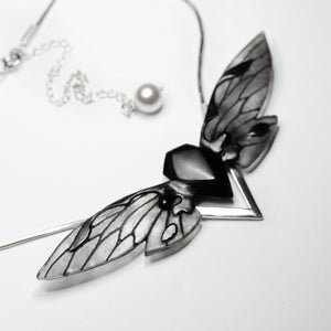 BLACK CICADA NECKLACE