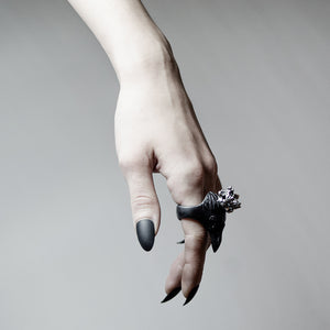 BLACK CORAX RING