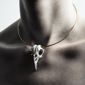 CROW NECKLACE - WHITE