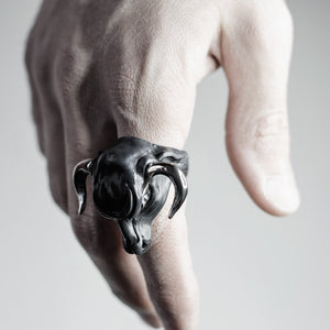 BLACK MINOTAUR RING