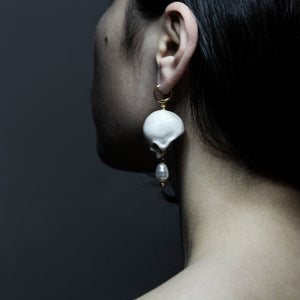 ROSE SKULL EARRING
