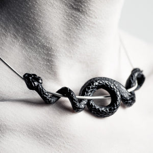 BLACK SERPENT NECKLACE