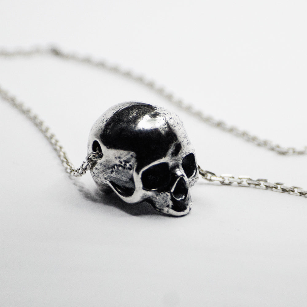 Silver skull pendant macabre gadgets online boutique silver skull pendant silver skull pendant mozeypictures Images