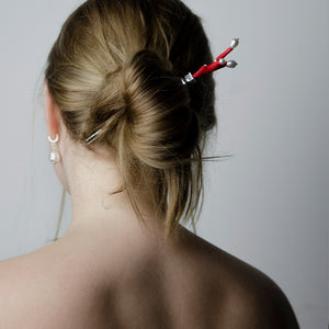 RED CORAL HAIRPIN