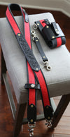 RED LINE Fire Hose Radio Strap Set