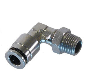 1/8th NPT to 1/4 Tube Push Connect,90 Elbow - Push Connect Tube Fittings - Palmers Pursuit Shop - Palmers Pursuit Shop