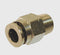 1/4 tube (Push to Connect) to 1/8th NPT Male - Push Connect Tube Fittings - Air Fittings - Palmers Pursuit Shop
