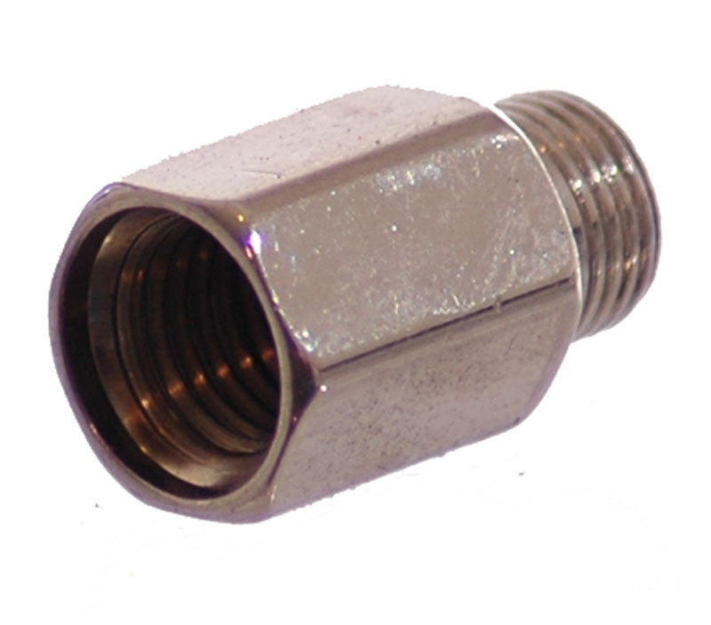 1/8 NPT Male to Metric M10x1.25 Female - Finish:Nickel - fittings - Air Fittings - Palmers Pursuit Shop