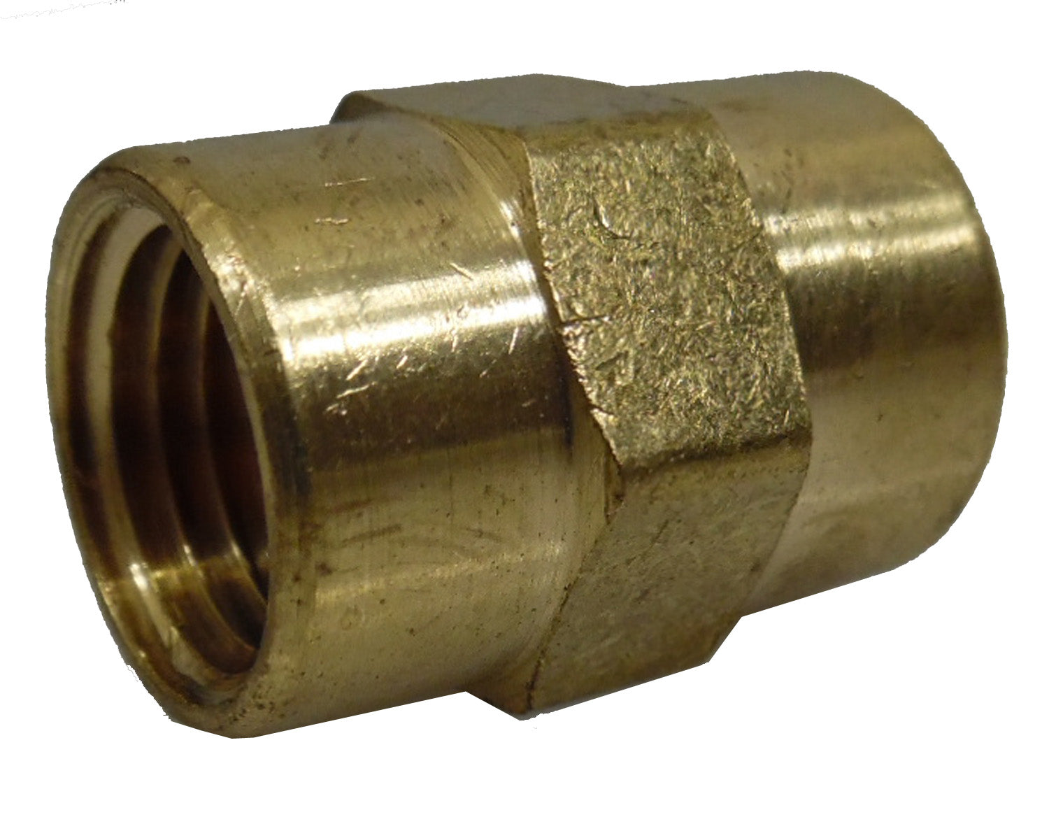 "1/4"" NPT Female - Female Hex Coupling, Brass"