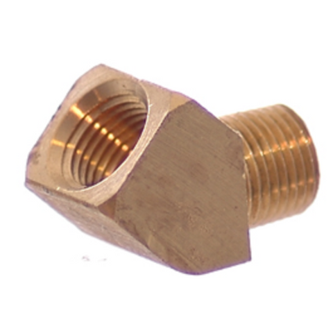 1/8 NPT 45° Elbow, Brass - 1/8 NPT - Air Fittings - Palmers Pursuit Shop