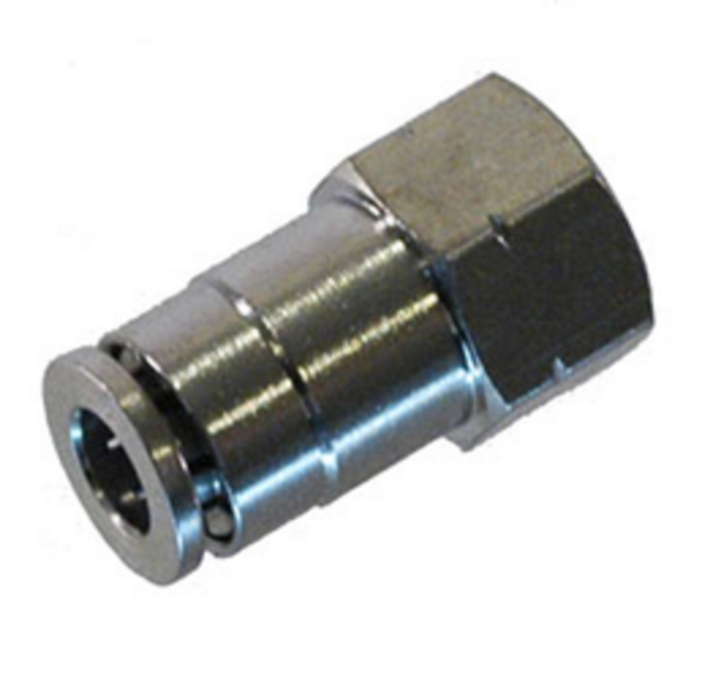 6mm Female Female Coupler - Push Connect Tube Fittings - Air Fittings - Palmers Pursuit Shop