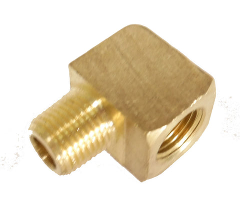1/8 NPT Barstock Street  90 degree Elbow, Brass - 1/8 NPT - Air Fittings - Palmers Pursuit Shop