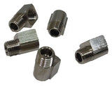 "Short 1/8"" NPT 90 degree Street Elbow, Nickel Finish, 5 Pack - 1/8 NPT - Air Fittings - Palmers Pursuit Shop"